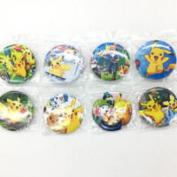 Pokemon 4.5 CM 8x/16x lot set  PIN BADGES new Cartoon& Animation PIN back BUTTONS PARTY BAG GIFT CLOTH