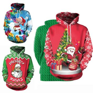 Unisex Men Women UGLY CHRISTMAS SWEATER Vacation Santa Elf Funny Christmas Sweaters Jumper Winter Tops Clothing