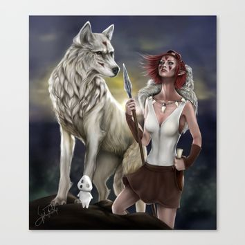 Princess Mononoke Canvas Print by PaintedSoul