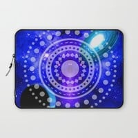 Electric blue universe Laptop Sleeve by Haroulita   Society6