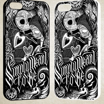 Jack And Sally Muertitos The Nightmare Before Christmas F0874 iPhone 4S 5S 5C 6 6Plus, iPod 4 5, LG G2 G3, Sony Z2 Case