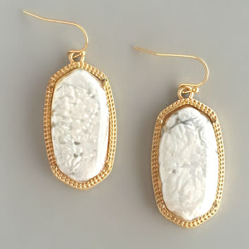 Italian Marble Earrings