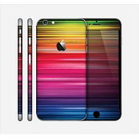 The Straight Abstract Vector Color-Strands Skin for the Apple iPhone 6 Plus