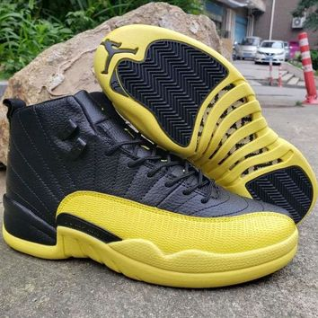 Air Jordan 12 Retro Yellow Black - Best Deal Online