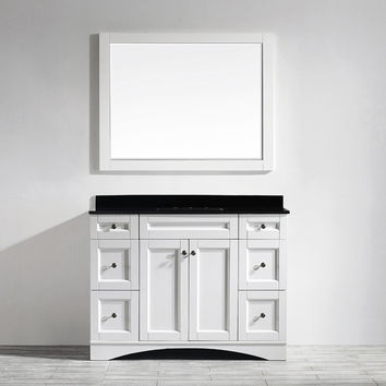 "Bologna 48"" Single Vanity Set with Mirror"