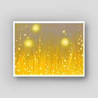 Firefly Summer Wall Decor - Abstract Fantasy Fireflies Art Print - Exhale