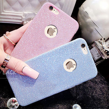 Flash Glitter TPU Cute Candy Case For iphone 7 Case For iphone7 6 6S Plus 5 5S SE Phone Cases Crystal Bling Soft Back Cover Capa -Girllove100