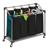 Quad Laundry Sorter Black