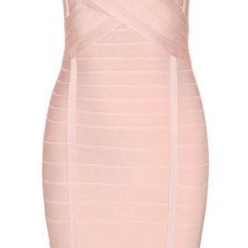 'Gregorio' Bandage Dress - Light Pink