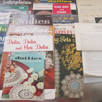 Large Lot of 1950s and 1960s Doily Patterns Coats Clark American Thread Company
