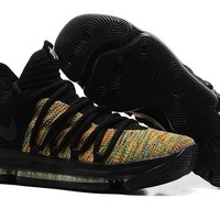 2017 Nike Mens Kevin Durant KD 10 Black Colorful Basketball Shoes