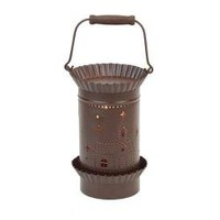 """Tin Lantern Style Tart Warmer - Church. Perfect for Warming Tarts, and Scented Oils. There Is an Easy to Use On/off Switch Located on the Power Cord. Our Candle Warmers Use 25w Bulbs (Included). Overall Height 6""""."""