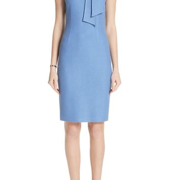 St. John Collection Sarga Knit Twill Knotted Tie Dress | Nordstrom