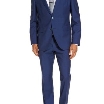 BOSS Trim Fit Solid Wool Suit | Nordstrom