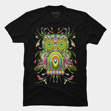 Owl Psychedelic Pop Art T Shirt By BluedarkArt Design By Humans