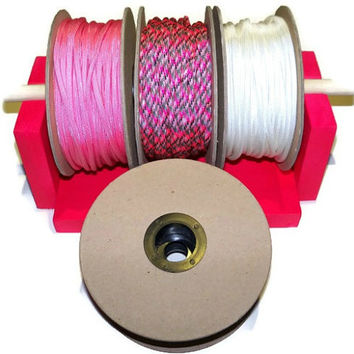 100ft Paracord Spools and Spool Holder NEW Paracord Organizer