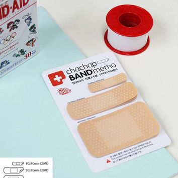 Sticky Notes Labels Memo Pad   Bookmark Paper Stationary   School Office Supplies   Removable Adhesive Korean Post-It Band-aid Cute M03