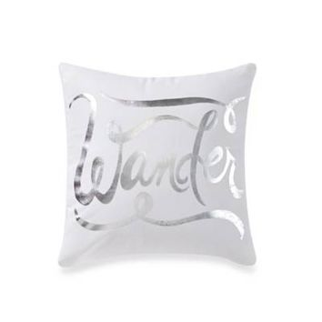 Anthology™ Astra Medallion Square Throw Pillow in White