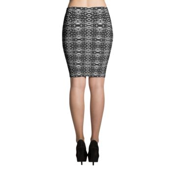 """A TENSION"" Houndstooth Skirt"