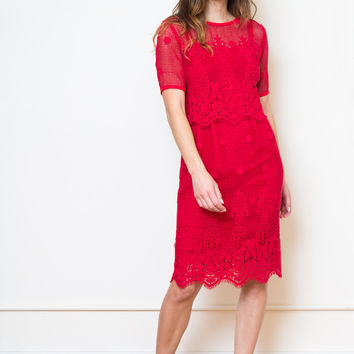 sylvester filigree shift dress