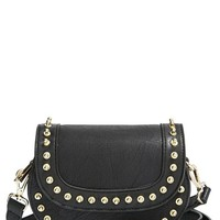 Women's Big Buddha 'Jzola' Faux Leather Studded Crossbody Bag