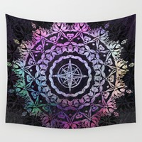 Dark Destination Mandala Wall Tapestry by Inspired Images