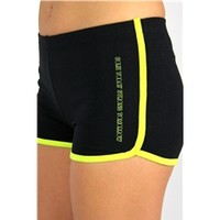 Sore Today Strong Tomorrow Running Shorts in Black/Lime Green | oGorgeous Gym Boutique