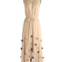 Ryu Fairytale Long Sleeveless Maxi Flutter Petals Dress