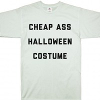 White T-Shirt | Funny Halloween Lazy Costume Shirts