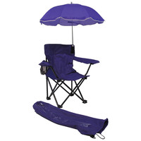 Kids,Toddlers Baby Umbrella Camp Beach Chair with Umbrella Shade, Purple