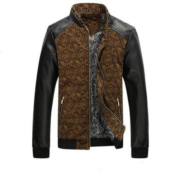 new Men casual Leather jackets size mlxl