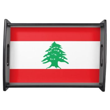 Lebanon, flag serving tray