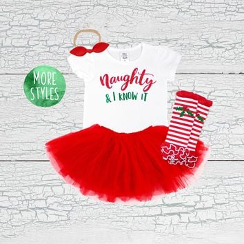 Naughty and I Know It Tutu Outfit