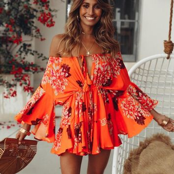 Boot Cut Bohemian Romper