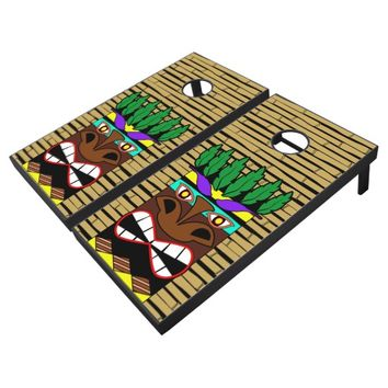 Totem Hawaiian Party Luau Cornhole Set
