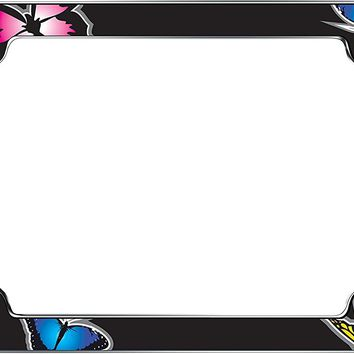 Cruiser Accessories 23053 Chrome 'Butterfly' License Plate Frame