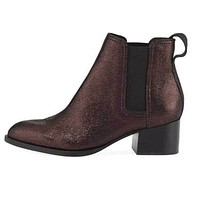 Rag & Bone Walker Copper Metallic Leather Block Heel Boot