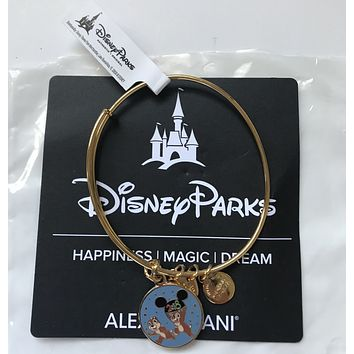 Disney Chip 'n Dale 2018 Bangle by Alex and Ani Gold Finish New
