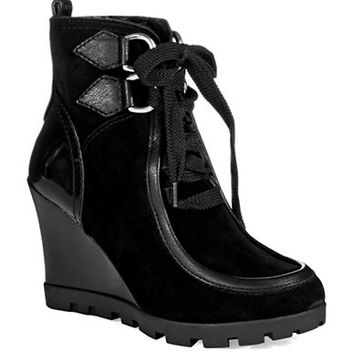 Guess Lanni Lace Up Boots