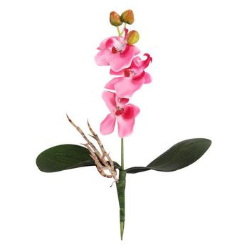 Purple White pink Red Triple Head Artificial Butterfly Orchid Silk Flower Home Wedding Decor