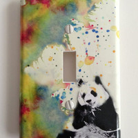 Panda Bear Decorative Light Switch Cover Great Kids Room Decor and Baby Nursery Art decor