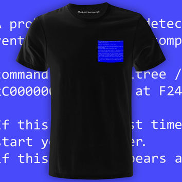 BSOD Black Pocket Tee