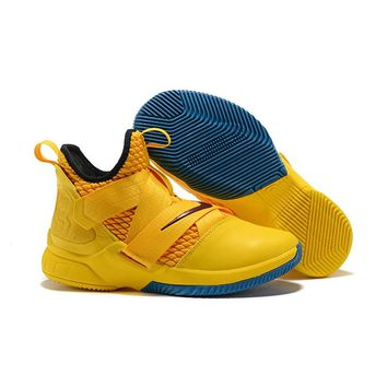 Nike LeBron Soldier 12 Gold Red - Best Deal Online