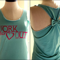 Workout Clothes Racerback Tank Top WORK your Heart by personTen