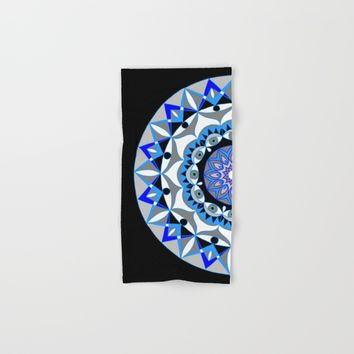 My Peace Mandhala | Secret Geometry | Energy Symbols Hand & Bath Towel by Azima