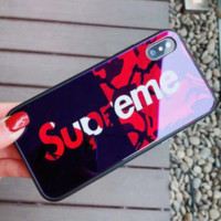 Supreme mobile phone shell 6s sets iphone7plus female tide brand atmosphere Red