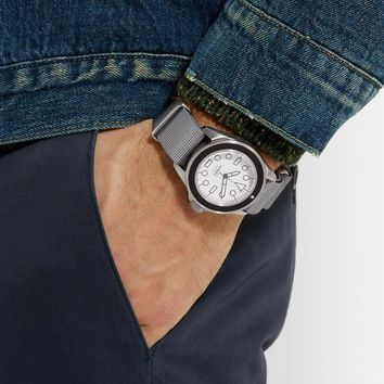 Brushed Steel Casing Timepiece by Unimatic