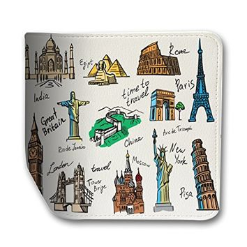Travel The World Leather Business Passport Holder Protector Cover_SUPERTRAMPshop