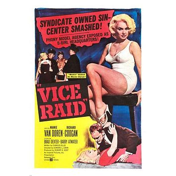 VICE RAID movie POSTER mamie VAN DOREN richard COOGAN sexy EXPOSE 24X36