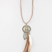 FULL TILT Turquoise Medallion Dreamcatcher Necklace | Necklaces